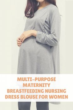 Multi-Purpose Maternity Breastfeeding Nursing Dress Blouse for Women