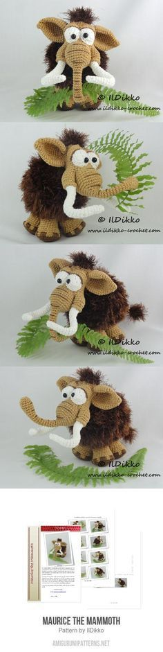 Maurice The Mammoth Amigurumi Pattern