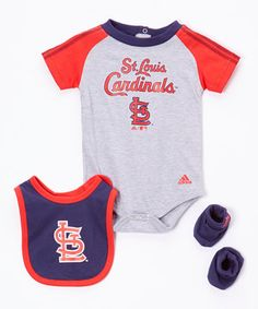 Look what I found on #zulily! St. Louis Cardinals Bib Set - Infant by adidas #zulilyfinds