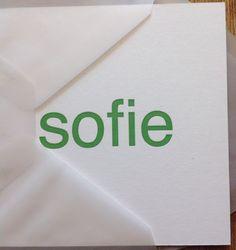 Letterpress, Gmund cotton, geboortekaartenonline