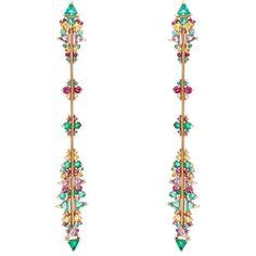 Fernando Jorge Women's Fusion Arrow Drop Earrings (€7.430) ❤ liked on Polyvore featuring jewelry, earrings, multi, 18k earrings, sparkly drop earrings, long post earrings, sparkle jewelry and mirrored jewelry