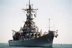 USS Iowa (BB 61) - the lead ship of her class of battleship and the fourth in the United States Navy to be named in honor of the 29th state. Owing to the cancellation of the Montana-class battleships, Iowa is the last lead ship of any class of US battleships and was the only ship of her class to have served in the Atlantic Ocean during World War II. Launched 1942, decommissioned, for last time, 1990.