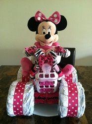 Minnie Mouse Diaper 4 Wheeler