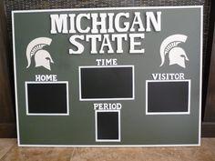 MSU custom chalkboard scoreboard
