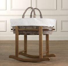 Moses Basket Stand | Moses Basket & Bassinet Bedding | Restoration Hardware Baby & Child