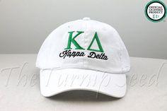 Kappa Delta Sorority Baseball Cap  Custom Color by TheTurnipSeed, $12.00