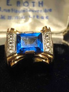 Elegant gold ring 18 carat. Discover more beautiful items from Johan Doomen's collection, a professional Belgian antique dealer, on Transferantique. Gold Rings, 18th, Sapphire, Engagement Rings, Beautiful, Elegant, Antiques, Stuff To Buy, Collection