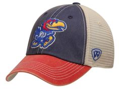 info for 48ac7 c44f1 Kansas Jayhawks Top of the World Blue Red Offroad Adjustable Snapback Hat  Cap