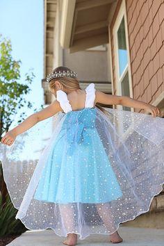 2T-7//8 New Handmade Frozen Elsa /& Anna Red Halter DressToddler//Girls Doll Dress