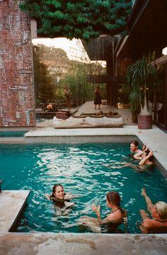 swim with friends