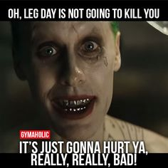 gymaaholic: Oh, Leg Day Is Not Going To Kill You It's just gonna hurt ya, really, really, bad! http://www.gymaholic.co