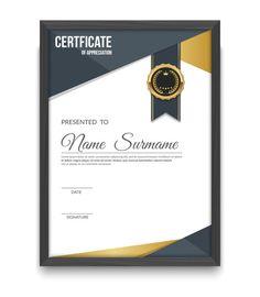 Certificate from Es_sarawuth on Creative Market # design . Certificate Layout, Certificate Of Merit, Certificate Design Template, Certificate Of Appreciation, Stationery Templates, Stationery Design, Web Design, Catalog Design, Grafik Design
