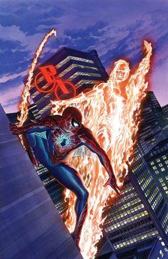 Marvel Comics Amazing Spider-Man Alex Ross Cover *Description: More of Spider-Man's post-Secret Wars world revealed! Comics Spiderman, Marvel Comics Art, Marvel Comic Books, Marvel Heroes, Comic Books Art, Comic Art, Arte Nerd, Spider Girl, Amazing Spiderman