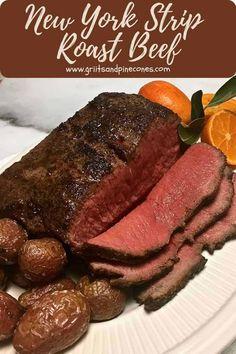 New York Roast Recipe, Strip Roast Recipe, Beef Loin, Tender Roast Beef, Christmas Dinner Menu, Christmas Meat, Xmas, New York Strip Roast, Steak Dishes