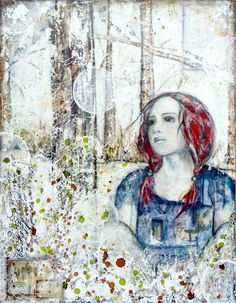 Refuge, mixed media painting on canvas © 2012 Laly Mille Mixed Media Faces, Mixed Media Artists, Mixed Media Painting, Mixed Media Collage, Mixed Media Canvas, Collage Art, Painting Art, Collages, Paintings