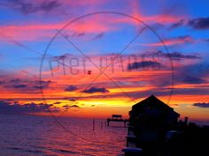Breath Taking Sunset at Clearwater Beach Poster by PierPrints