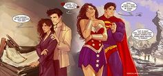 """ohmycarlisle: """"Edward and Bella have nothing on Wonder Woman and Superman """" I guess this one might be called - Twilight sex vs Superhero sex. By the brilliant nebezial """" """" Wonder Woman Comic, Superman Wonder Woman, Wonder Women, Superman X, Batman, Comic Books Art, Comic Art, Hq Dc, Arte Dc Comics"""