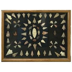 Framed Arrowhead Collection
