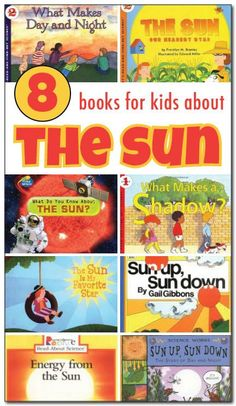 A review of 8 books about the sun for kids. These are great choices for teaching kids all about our wonderful sun! || Gift of Curiosity