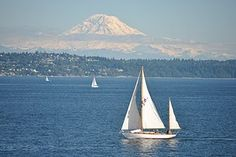 Seattle - Puget Sound and Mt. Rainier. Home....