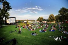 """One of the largest outdoor cinemas of Croatia, the """"Screen on the Green"""", is now taken place in Zagreb and Split. The films are shown on a 30ft. wide mobile screen. About 1000 spectators are visiting the screenings. The favourite movies so far were computer-animated blockbusters like """"Up"""", """"Ratatouille"""" or """"Wall-E"""". Ratatouille, Screen On The Green, Inflatable Movie Screen, All Over The World, Around The Worlds, Drive In Cinema, Outdoor Cinema, In And Out Movie, Wall E"""