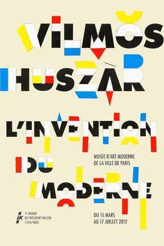 Vilmos Huszàr exhibition poster by Tristan Bagot