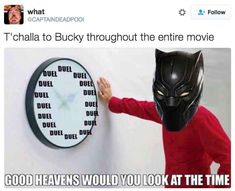 """18 Photos That Perfectly Sum Up Bucky And T'challa In """"Civil War"""""""