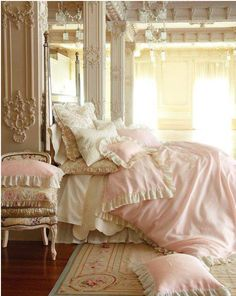 Love the idea of Pink for an adult bedroom. We may start out as Princesses but most of us end up Queens!