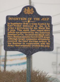 ✯ Invention Of The Jeep✯ -wooho September my bday month (random comment).I did not know jeep had some special sign haa-ki Jeep Cars, Jeep Truck, Gi Joe, Dodge, Volkswagen, Old Jeep, Jeep Accessories, Wrangler Accessories, Cool Jeeps