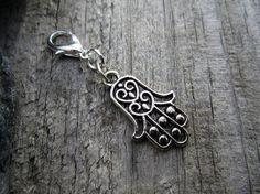 Silver Hand of Fatima Charm  Midori Charm  by PohakantenJournals