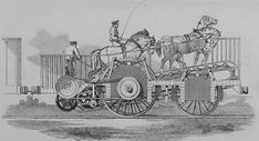 The Impulsoria was an experimental, horse-powered train which was briefly tested at Nine Elms (near Vauxhall) in the It never caught on. Weird Inventions, London History, London Transport, New Theme, The World's Greatest, Locomotive, Fast Cars, Monster Trucks, Horses
