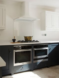 Two under-counter ovens (sorry-of). And what about a piece of glass as a back splash?