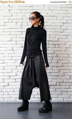 Loose Casual Drop Crotch Harem Pants - METP0010 My favorite piece from my new collection! I just adore those pants! They are something I would wear every day, because they are super comfortable, extremely easy to wear and absolutely amazing to look at! I have used a draping technique