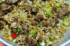 Cara Membuat Nasi Goreng Kambing Tasty Rice Recipes, Rice Recipes For Dinner, Side Dish Recipes, Asian Recipes, Ethnic Recipes, Rice Side Dishes, Main Dishes, What Can I Eat, Indonesian Food