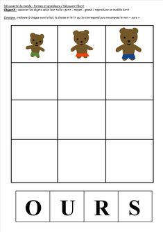 BOUCLE D'OR ET LES TROIS OURS Nursery School, Primary Education, Nursery Rhymes, Fairy Tales, Beer, Teddy Bear, Kids Rugs, Activities, Maths