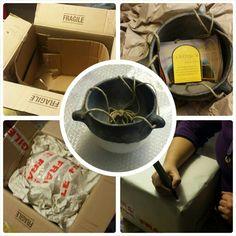 #goodbye #raku #ceramic #hangingplanter! #packed and #shipped to #california! #etsy #etsyshop #shoppingonline