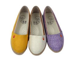 Le Bunny Blue - Watercolor Slip-ons. Purple are my faves
