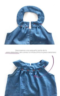 Vestido vaquero de bebé DIY - Tutorial y patrón - Vestido vaquero de bebé DIY – Tutorial y patrón - Kids Dress Patterns, Baby Clothes Patterns, Diy Clothes, Sewing Clothes, Dress Clothes, Jeans Dress, Baby Dress Design, Cowboy Baby, Little Girl Dresses