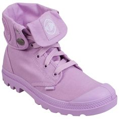 Shop Palladium Baggy M Canvas Boots in Lavender at http://inf.shoes/1RkWc7d. FREE Shipping, Easy Returns! #Palladium #Spring #Women #Parties #Shoes #Boots #Canvas #Feminine #Lavender