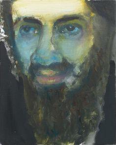 'Osama' - 2010 - by Marlene Dumas (South African, b. 1953)