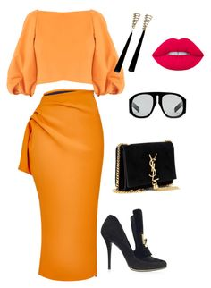 """""""Untitled #296"""" by stylistrr on Polyvore featuring Maticevski, TIBI, Balmain, Yves Saint Laurent and Gucci"""