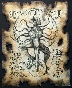 "Nyarlathotep pronunciado en lengua humana como ( ""nigh-ahr-la-toe-thep"")   by MrZarono.deviantart.com on @deviantART"
