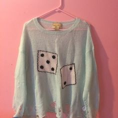 Wildfox white label dice sweater Worn once, loose fitting, size small. Still in great condition. No trades, m, or pp. offers through button only. No low balling. Wildfox Sweaters