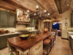 cocina de lujo rustica madera