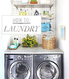 DIY:  Follow these simple tips & you'll avoid shrinking, set-in stains & other laundry disasters - via Who What Wear