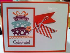A fun card that my friend Michelle made using my favourite stamp set Topsy Turvy!!