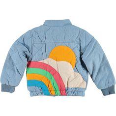 Sunrise Quilted Cotton Jacket/ Pale Denim