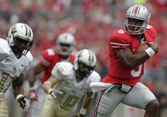 2012 season - Quarterback Braxton Miller is rewriting Ohio State's record books.    The sophomore followed his record-setting performance last week with another one Saturday as he led the Buckeyes to a 31-16 win over Central Florida.    Miller set career-highs with 27 rushing attempts and three rushing touchdowns, including 108 yards in the first half. His 140 rushing yards were just 21 shy of the school's record, which he set last week vs. Miami (Ohio).    Photo Yahoo, comments CBS…
