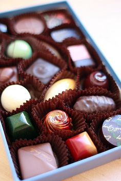 A gift box of fine chocolates to savor one at a time.