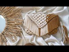 Macrame Bag, Macrame Design, Mason Jar Crafts, Diy For Kids, Straw Bag, Diy Crafts, Paper Crafts, Crochet Hats, Bracelet